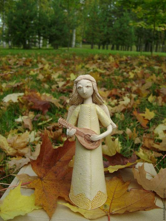 Персональные подарки ручной работы. Ярмарка Мастеров - ручная работа. Купить фигура Ангелы Керамика. Handmade. Ангел, средневековье, белый