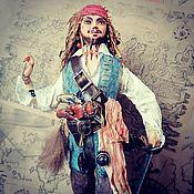 Куклы и игрушки handmade. Livemaster - original item Captain Jack Sparrow. Interior, cotton doll.. Handmade.