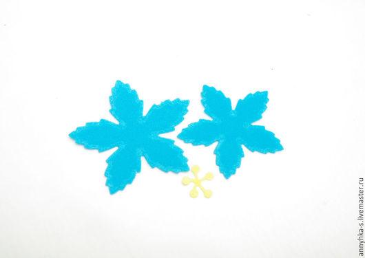 """Ткань для цветов ручной работы. Ярмарка Мастеров - ручная работа. Купить Вырубка из фоамирана """" Цветок -2 """". Handmade."""