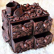 Для дома и интерьера ручной работы. Ярмарка Мастеров - ручная работа мини-комодик для мелочей. Handmade.