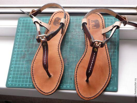 Обувь ручной работы. Ярмарка Мастеров - ручная работа. Купить Сандали ручной работы. Handmade. Коричневый, чепрак, ручная работа