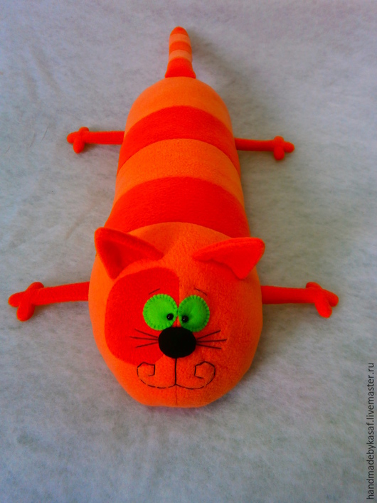 Текстиль, ковры ручной работы. Ярмарка Мастеров - ручная работа. Купить Подушка игрушка Кот Полоскин. Handmade. Рыжий, валик