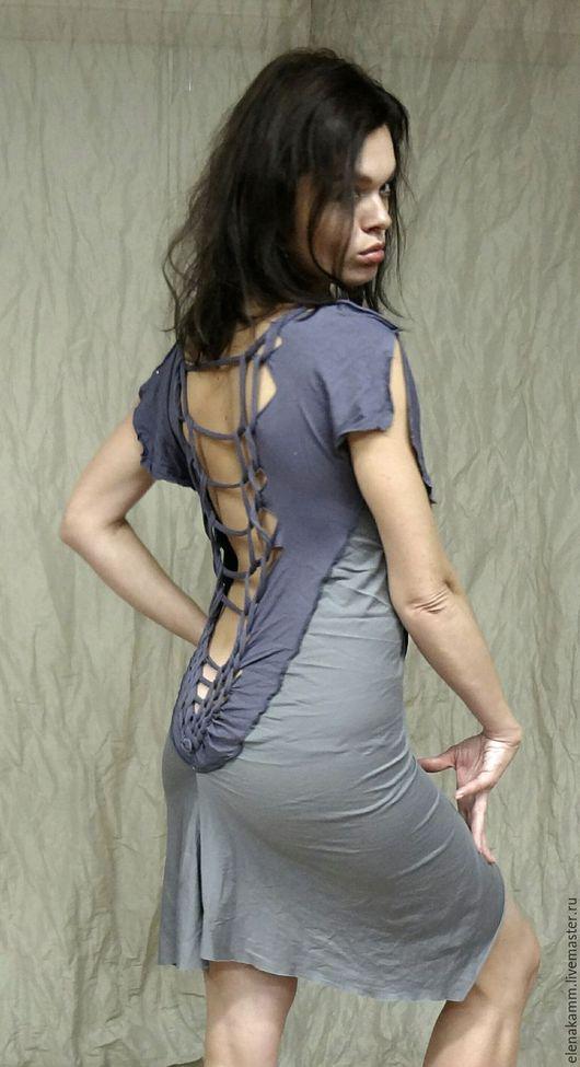 """Платья ручной работы. Ярмарка Мастеров - ручная работа. Купить Платье """"Русалочка"""". Handmade. Серый, дизайнерская одежда, авторская работа"""