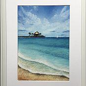 Картины ручной работы. Ярмарка Мастеров - ручная работа Мальдивы. Handmade.