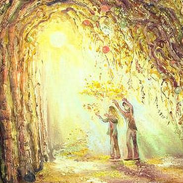 """Картины и панно ручной работы. Ярмарка Мастеров - ручная работа Картина """"Осень. Мы вместе"""" из тетраптиха """"Мы вместе"""". Handmade."""