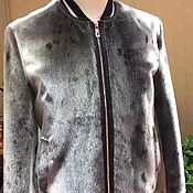 Мужская одежда handmade. Livemaster - original item Men`s jacket, bomber jacket made of sea lion fur, custom made!. Handmade.