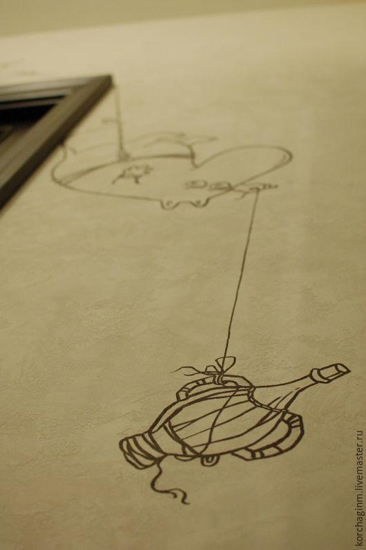 Дизайн интерьеров ручной работы. Ярмарка Мастеров - ручная работа. Купить Роспись детской_ Муми Тролли. Handmade. Муми тролли