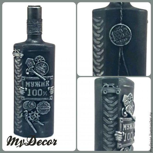 Бутылка 100% Мужик