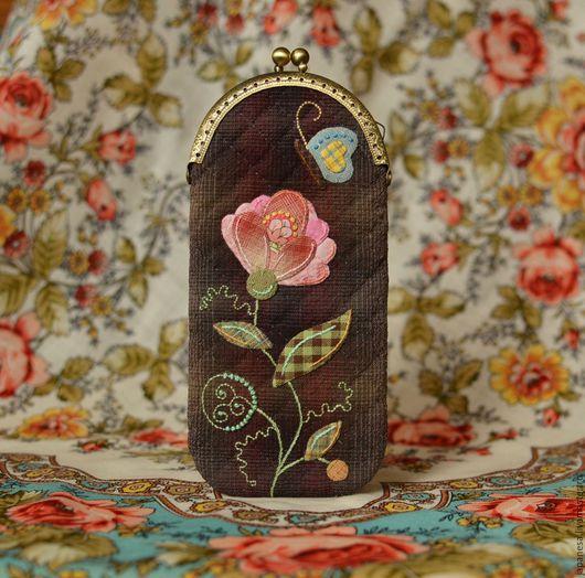 """Футляры, очечники ручной работы. Ярмарка Мастеров - ручная работа. Купить Японский футляр для очков """"Розовый нектар"""". Handmade. цветок"""