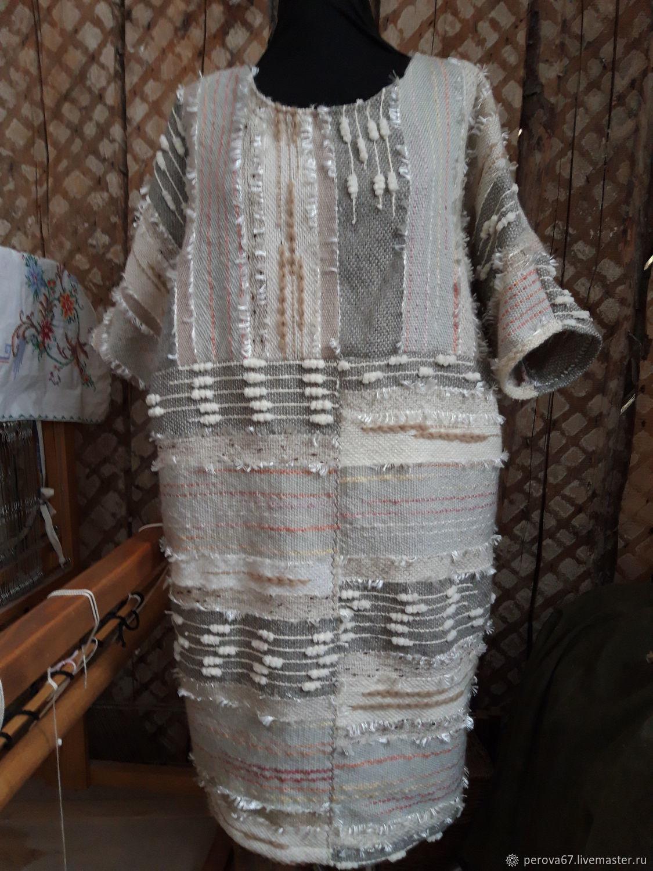 Платье-сарфан Рогожка из домоткани, Сарафаны, Шатура, Фото №1
