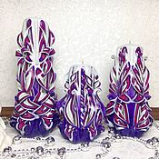 Свадебные свечи ручной работы. Ярмарка Мастеров - ручная работа Набор резных свечей. Handmade.