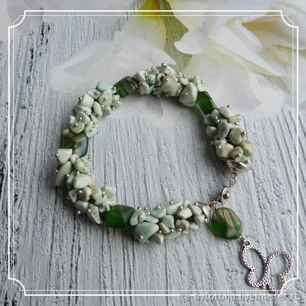 Howlite and Czech beads bracelet, Bead bracelet, Smolensk,  Фото №1