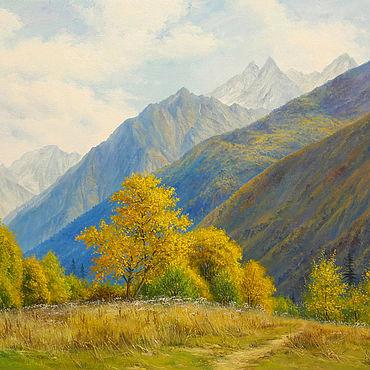 Картины и панно ручной работы. Ярмарка Мастеров - ручная работа Картина ``Теплая осень`` 50х70 см. Handmade.