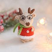 Сувениры и подарки handmade. Livemaster - original item New year`s deer, interior toy deer as a gift. Handmade.