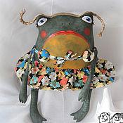 Куклы и игрушки ручной работы. Ярмарка Мастеров - ручная работа жабка Аквария. Handmade.