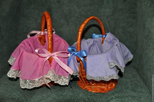 Свадебные аксессуары ручной работы. Ярмарка Мастеров - ручная работа. Купить Маленькие корзиночки для голосования за мальчика-девочку. Handmade.
