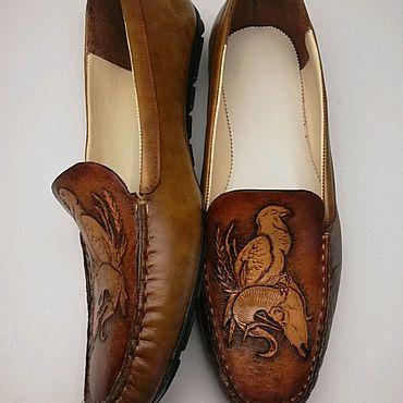 Обувь ручной работы. Ярмарка Мастеров - ручная работа Мокасины. Handmade.