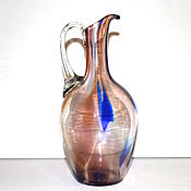 Винтаж handmade. Livemaster - original item Pitcher blown glass USSR 22 cm. Handmade.