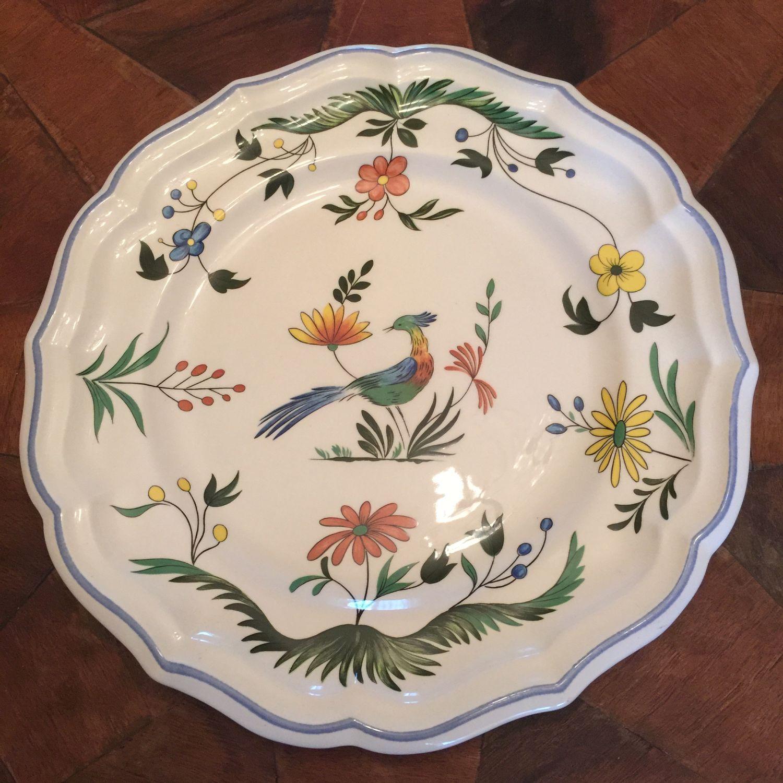 Plate Gien France Oiseau De Paradis, Vintage plates, Kaliningrad,  Фото №1
