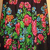 Платок павловопосадский, винтажный, авт. К.Аболихин
