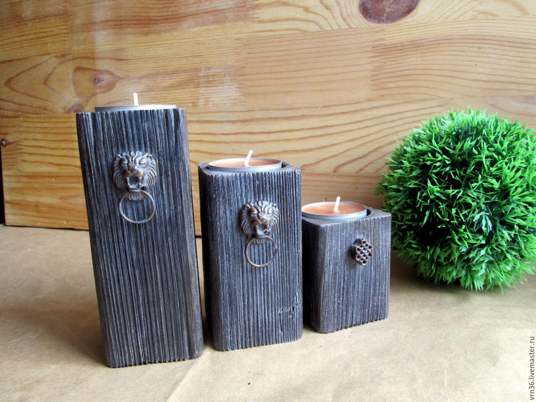 Candlesticks 'Old' pine, Candlesticks, Voronezh,  Фото №1