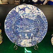 Винтаж handmade. Livemaster - original item Vintage: The Bridge Scenes Plate England, Crown Ducal (1850). Handmade.