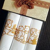 Аксессуары handmade. Livemaster - original item A set of handkerchiefs Family Bears. Handmade.