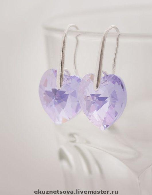 """Серьги ручной работы. Ярмарка Мастеров - ручная работа. Купить Серьги """"Violet"""". Handmade. Сверкающий, кристаллы сваровски, серьги, серебро"""