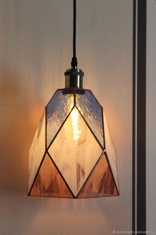 Витражная лампа Тиффани, лампа LOFT, потолочный светильник