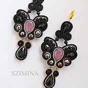 Украшения handmade. Livemaster - original item Soutache earrings with pink Swarovski Dolcini. Handmade.
