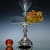 Посуда handmade. Livemaster - original item My: Vases: Huge fruit bowl made of silver. Handmade.