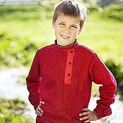 Русский стиль handmade. Livemaster - original item Blouse for boy. Handmade.