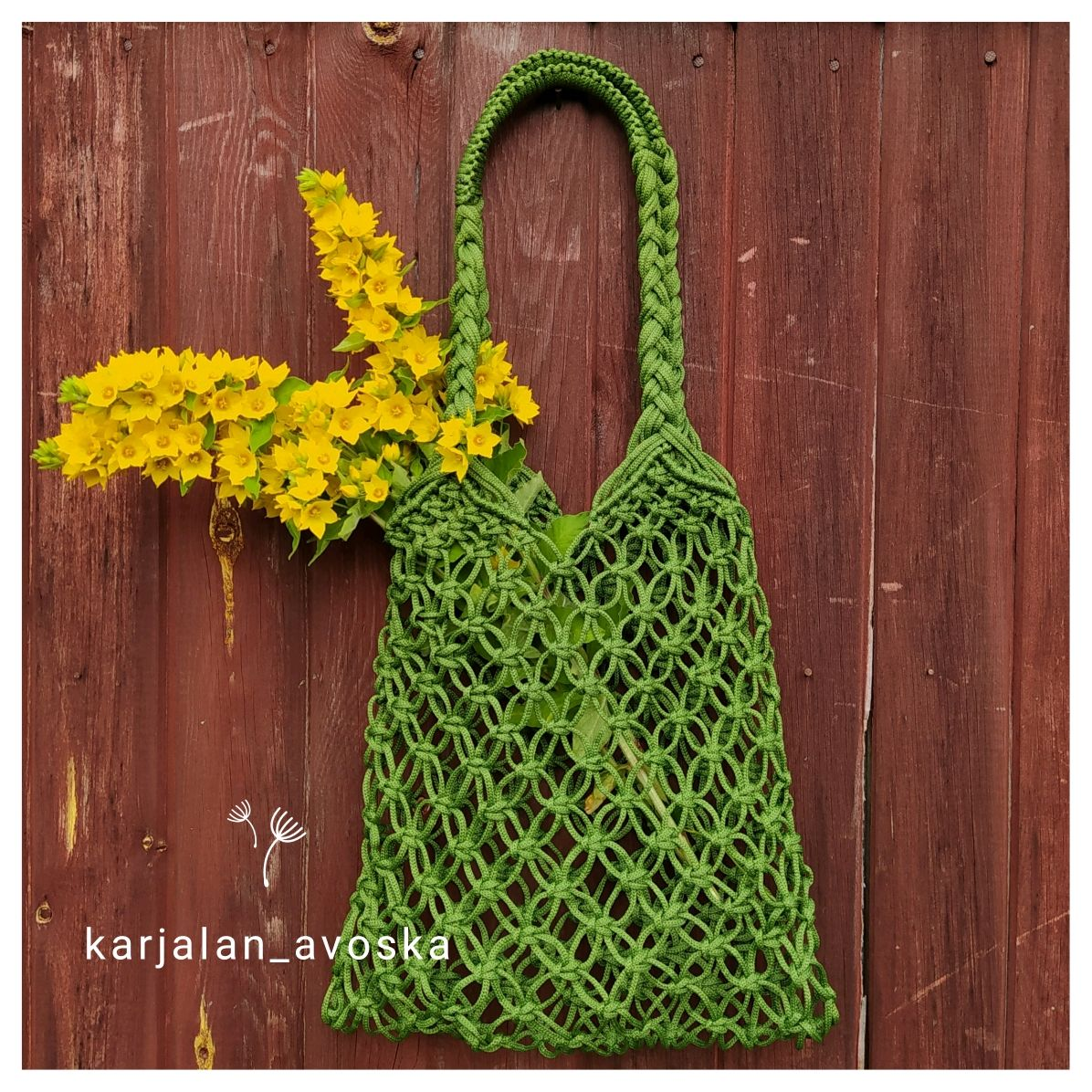 Bag-string bag ' Juicy olive', String bag, Petrozavodsk,  Фото №1