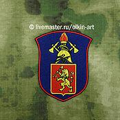 Материалы для творчества handmade. Livemaster - original item VDPO badge on the shield (with coat of arms of Krasnoyarsk). Handmade.