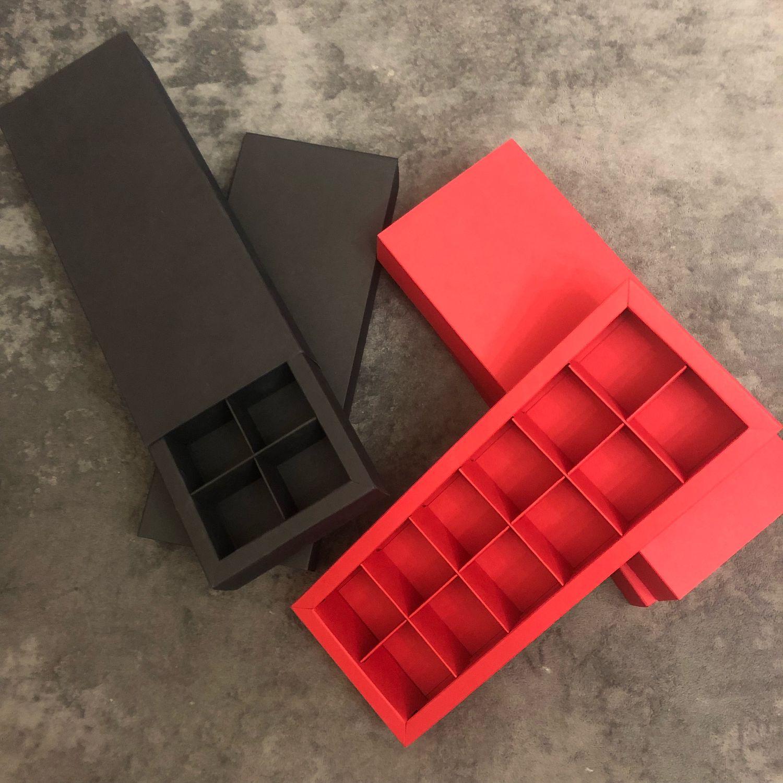 Коробки Шубер на 12 ячеек для конфет ручной работы, Упаковка, Москва, Фото №1