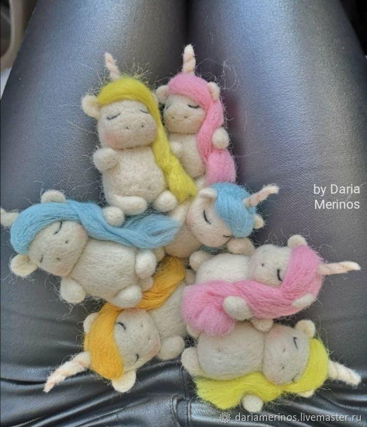 Валяная игрушка: Единорожки, слоники, зайки, Войлочная игрушка, Ульяновск,  Фото №1