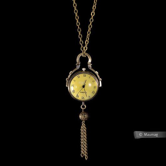 Часы ручной работы. Ярмарка Мастеров - ручная работа. Купить Часы сфера. Handmade. Золотой, сфера, подвеска, металлическая фурнитура
