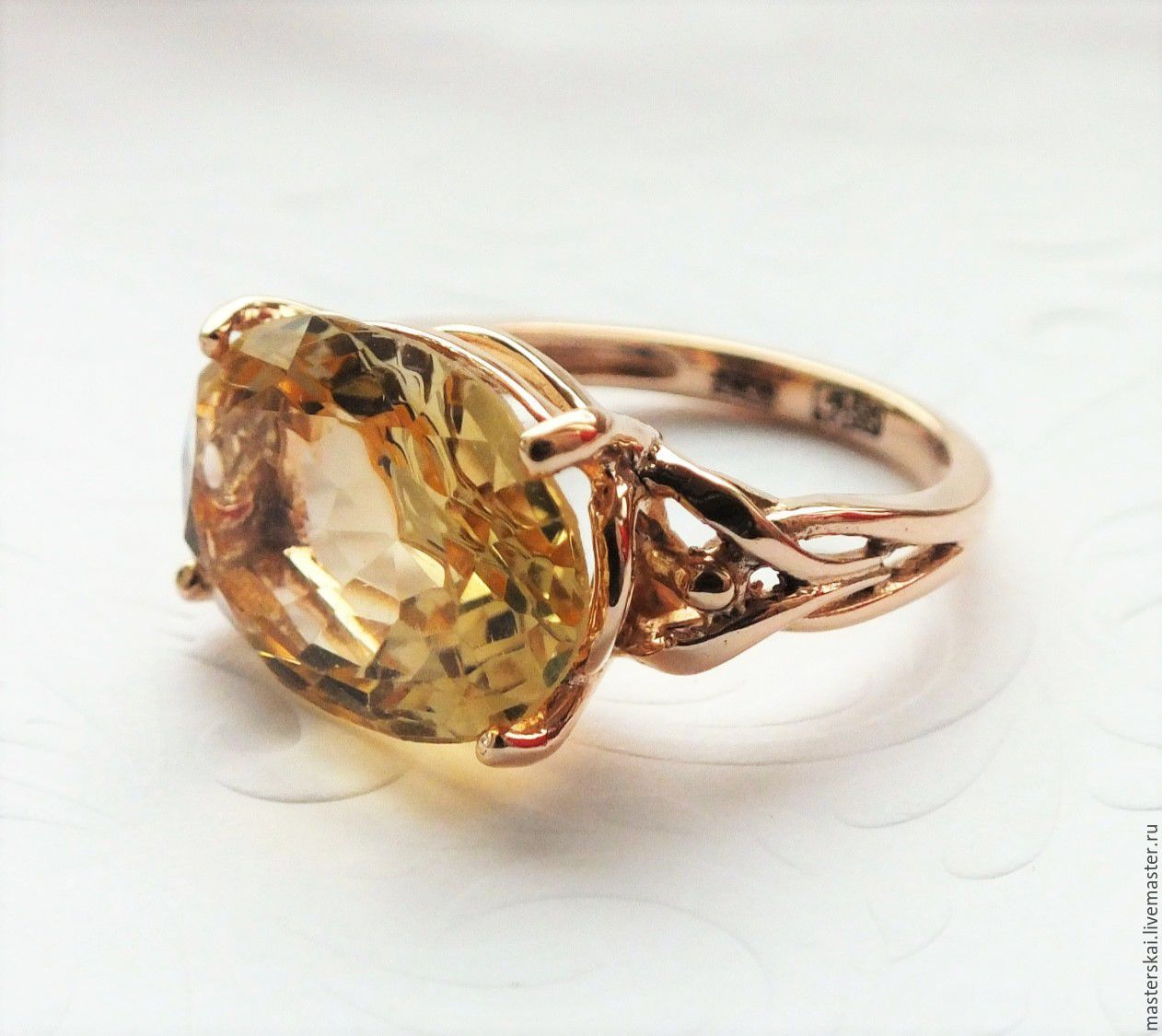 Ring 'Sentra' - citrine, gold 585, Rings, Moscow,  Фото №1