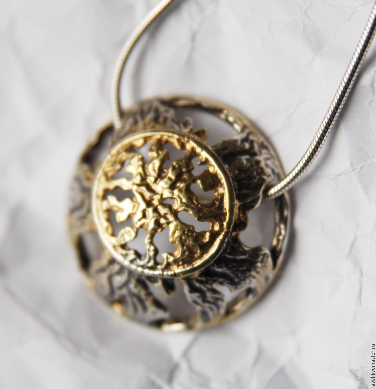 'Full moon'-silver pendant, Pendants, Kurgan,  Фото №1
