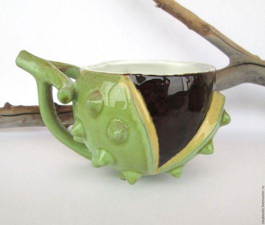 """Кружки и чашки ручной работы. Ярмарка Мастеров - ручная работа. Купить """"Каштан"""", керамическая чашка. Handmade. Керамика ручной работы"""