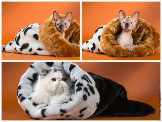 Одежда для кошек, ручной работы. Ярмарка Мастеров - ручная работа. Купить Меховые мешки для кошек и собак. Handmade. Комбинированный, лежанка