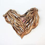Подвески ручной работы. Ярмарка Мастеров - ручная работа Сердце из деревянных палочек дрифтвуд Сердце, где живет любовь 21 см. Handmade.