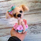 Куклы и игрушки handmade. Livemaster - original item Plum dog toy. Handmade.