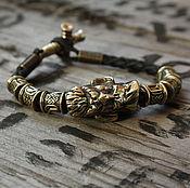 Украшения handmade. Livemaster - original item Leather bracelet Hunter. Handmade.