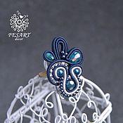 Украшения handmade. Livemaster - original item ring of soutache jewelry. Handmade.