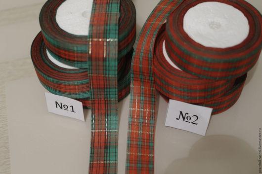 Шитье ручной работы. Ярмарка Мастеров - ручная работа. Купить Лента шотландка декоративная 25мм. Handmade. Разноцветный, шотландка, ленты