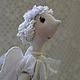 Человечки ручной работы. Ярмарка Мастеров - ручная работа. Купить Нежный Ангел. Handmade. Белый, кукла-ангел, марлёвка