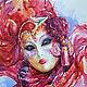 Painting watercolor 'Venetian mask purple', Pictures, Serebryanye Prudy,  Фото №1