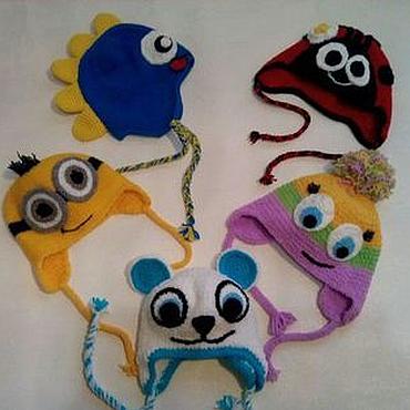 Работы для детей, ручной работы. Ярмарка Мастеров - ручная работа Шапка детская вязаная спицами шапка для детей. Handmade.