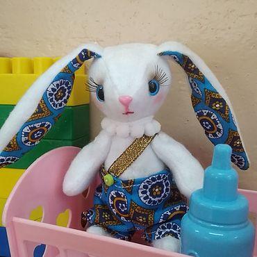 Куклы и игрушки ручной работы. Ярмарка Мастеров - ручная работа Игрушки: заяц Коська. Handmade.